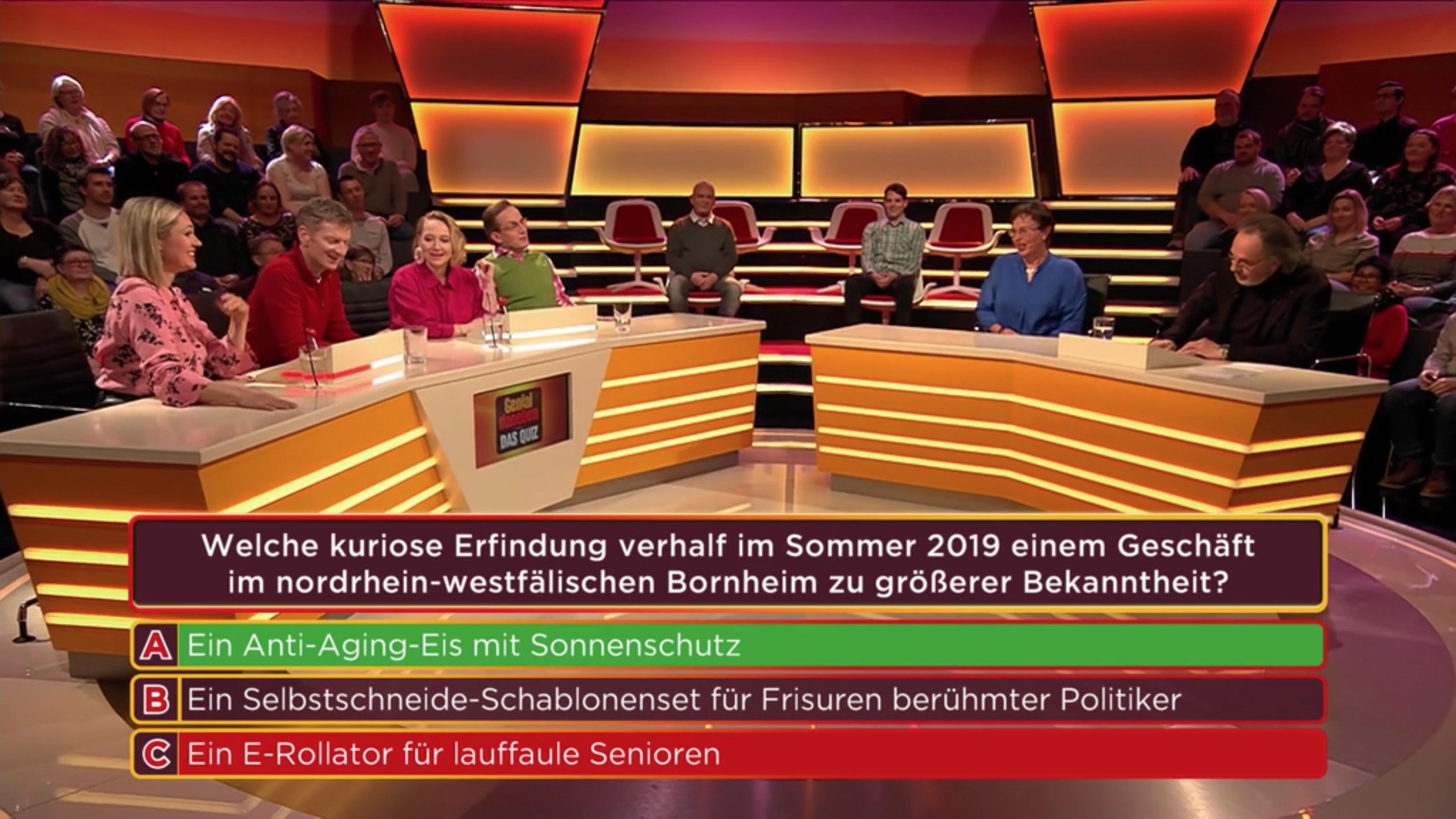 """dr. skin's & Michael Landsberg als Quizfrage bei """"Genial daneben"""" auf Sat.1"""
