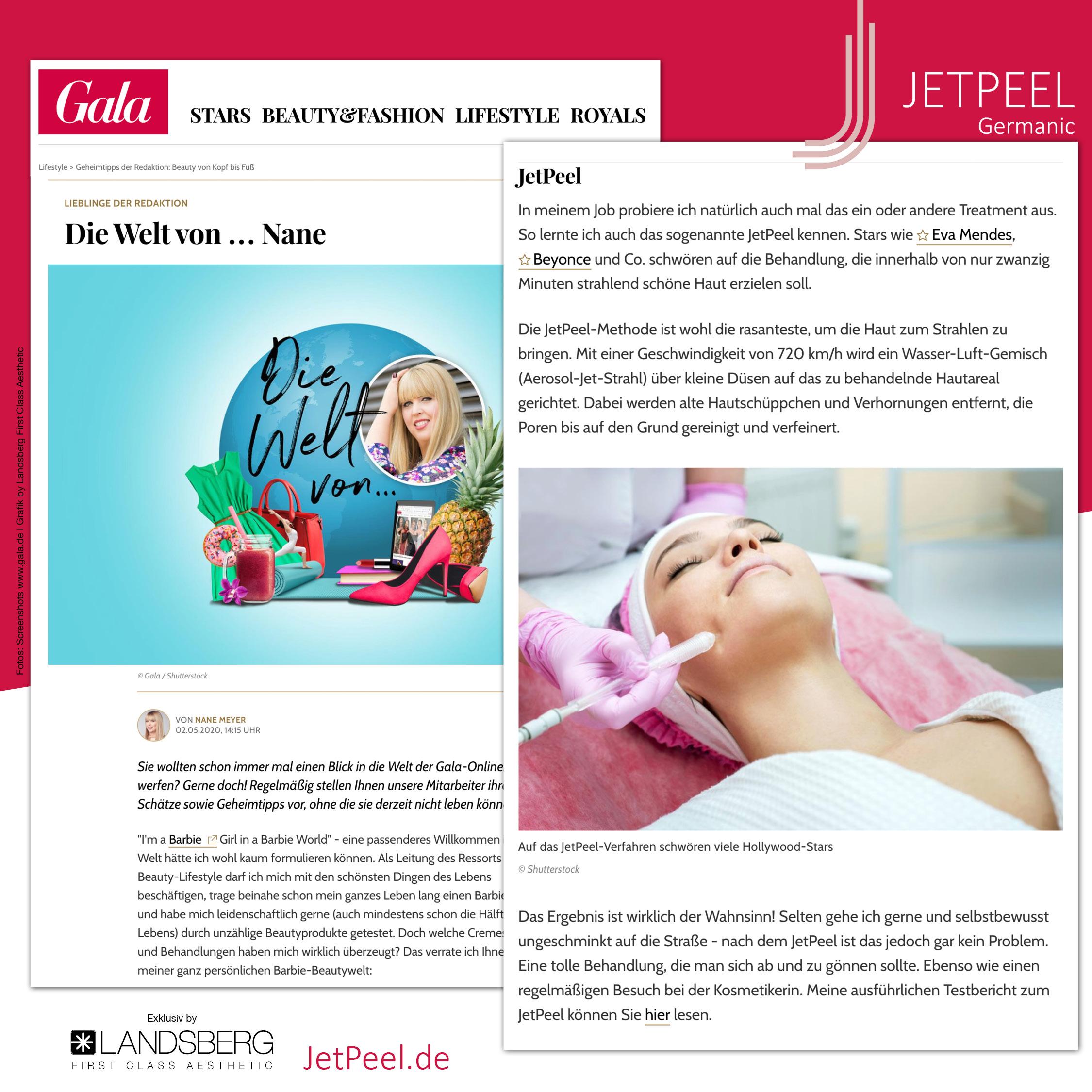"""JetPeel™ – Liebling der """"Gala"""" Redaktion und Stars wieEva Mendes &Beyonce"""