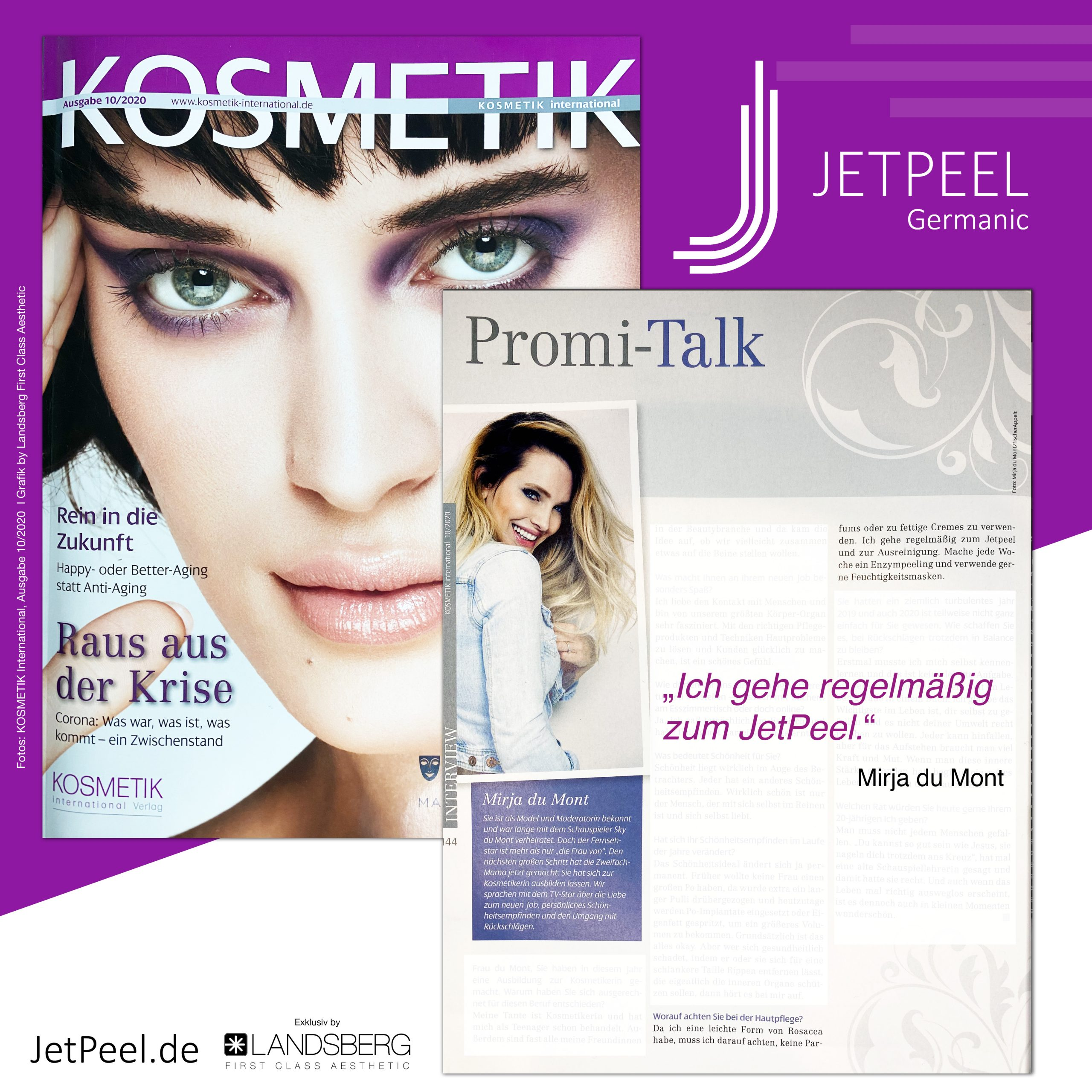 Mirja du Mont über JetPeel im Interview mit KOSMETIK International