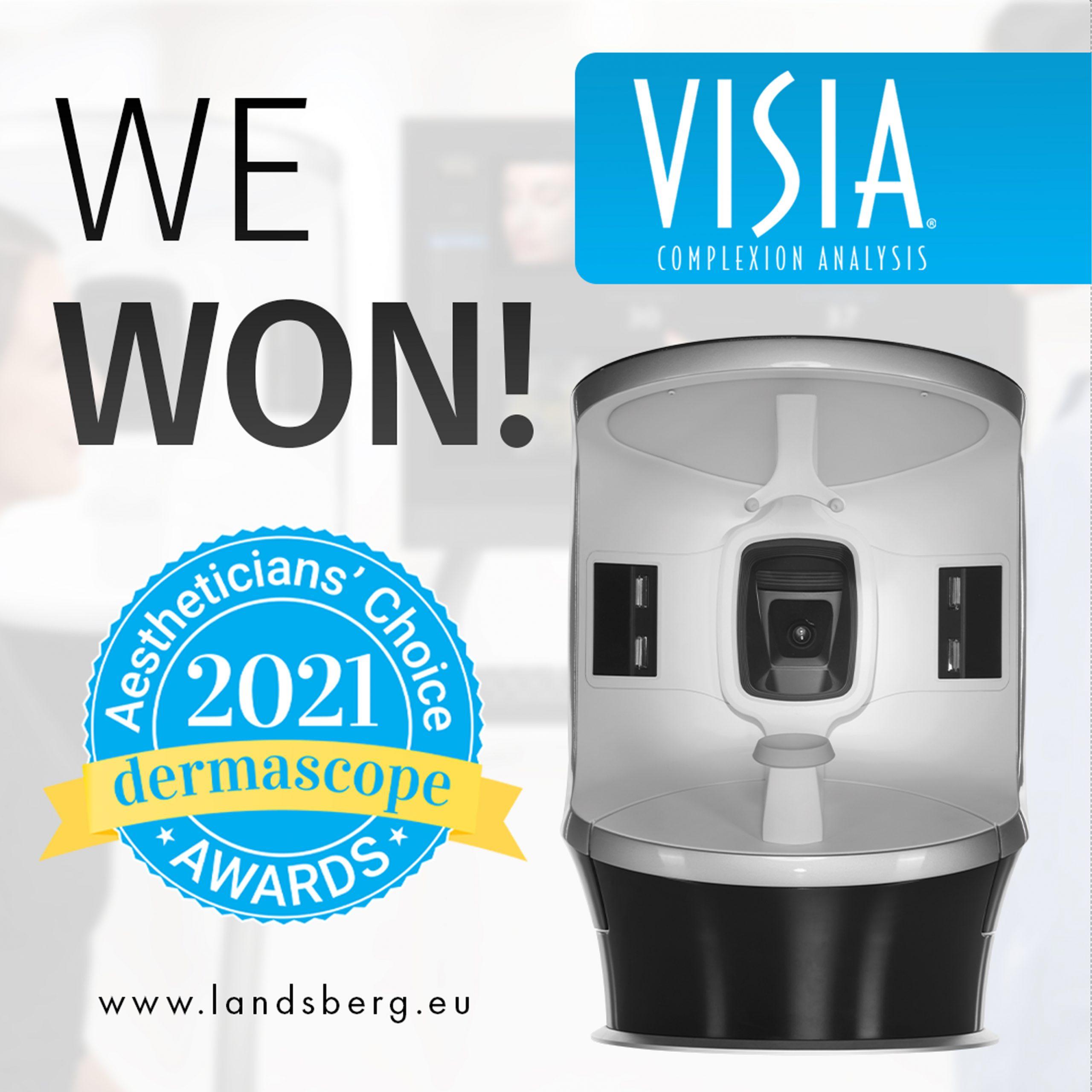 """Canfield's VISIA® gewinnt den """"Aestheticians' Choice Award 2021"""""""